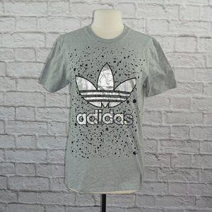 Adidas Trefoil Gray Silver Metallic Shirt